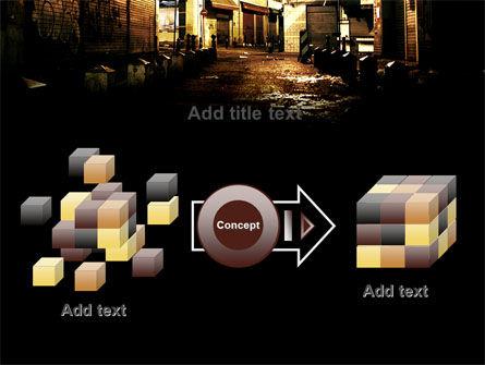 Night Street PowerPoint Template Slide 17