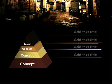 Night Street PowerPoint Template, Slide 4, 06735, Construction — PoweredTemplate.com