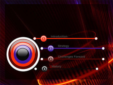 Abstract Neon Glowing Circle PowerPoint Template, Slide 3, 06736, Technology and Science — PoweredTemplate.com