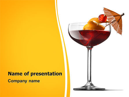 Food & Beverage: Margarita Cocktail PowerPoint Template #06739