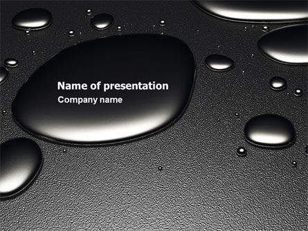 Dark Drops PowerPoint Template