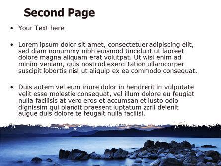 Calm Evening Shore PowerPoint Template, Slide 2, 06743, Nature & Environment — PoweredTemplate.com