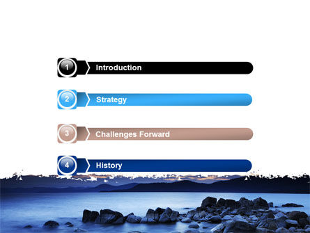 Calm Evening Shore PowerPoint Template, Slide 3, 06743, Nature & Environment — PoweredTemplate.com