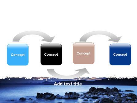 Calm Evening Shore PowerPoint Template, Slide 4, 06743, Nature & Environment — PoweredTemplate.com