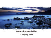 Nature & Environment: Calm Evening Shore PowerPoint Template #06743