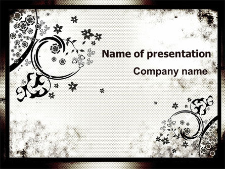 Dark Ornamented Theme PowerPoint Template, 06744, Abstract/Textures — PoweredTemplate.com
