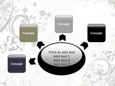 Dark Ornamented Theme PowerPoint Template Slide 7