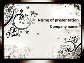 Abstract/Textures: Dark Ornamented Theme PowerPoint Template #06744