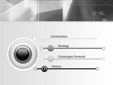 Abstract Geometry In Gray PowerPoint Template, Slide 3, 06746, Technology and Science — PoweredTemplate.com