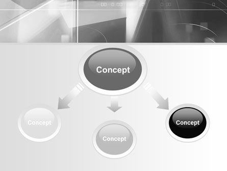 Abstract Geometry In Gray PowerPoint Template, Slide 4, 06746, Technology and Science — PoweredTemplate.com