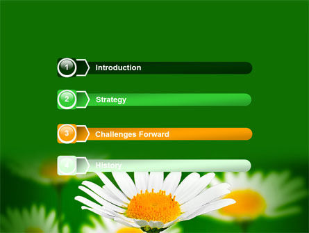 Daisy Meadow Free PowerPoint Template, Slide 3, 06748, Nature & Environment — PoweredTemplate.com