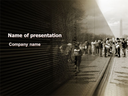 Vietnams Veterans Memorial PowerPoint Template