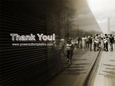 Vietnams Veterans Memorial PowerPoint Template Slide 20