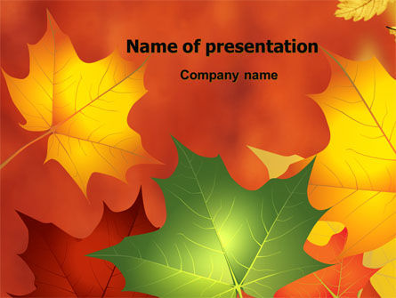 Nature & Environment: Autumn Leaves Theme PowerPoint Template #06756