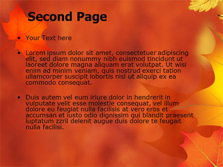 Autumn Leaves Theme PowerPoint Template, Slide 2, 06756, Nature & Environment — PoweredTemplate.com