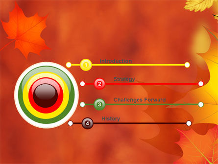 Autumn Leaves Theme PowerPoint Template, Slide 3, 06756, Nature & Environment — PoweredTemplate.com