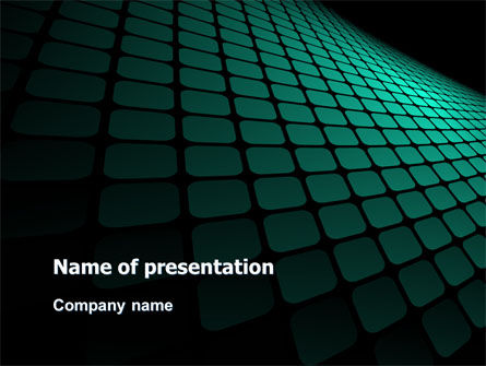 Green Grid Theme PowerPoint Template, 06757, Abstract/Textures — PoweredTemplate.com