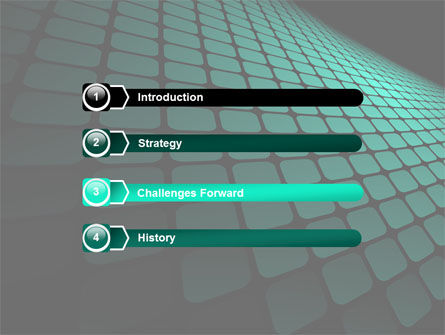 Green Grid Theme PowerPoint Template, Slide 3, 06757, Abstract/Textures — PoweredTemplate.com