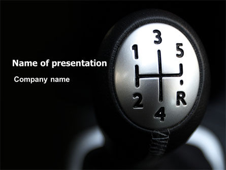 Cars and Transportation: Transmission PowerPoint Template #06760