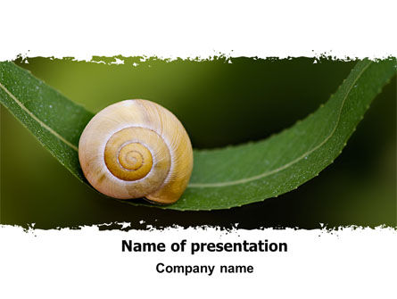 Animals and Pets: Snail Shell PowerPoint Template #06761