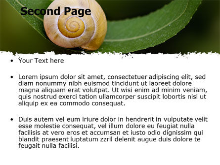 Snail Shell PowerPoint Template, Slide 2, 06761, Animals and Pets — PoweredTemplate.com
