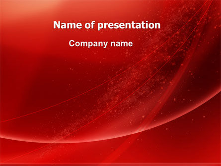 Red Shimmer PowerPoint Template, 06762, Abstract/Textures — PoweredTemplate.com