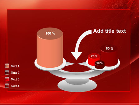 Red Shimmer PowerPoint Template Slide 10