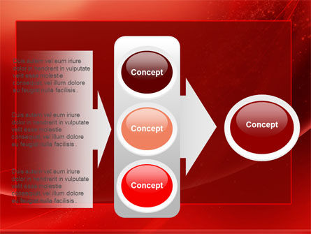 Red Shimmer PowerPoint Template Slide 11