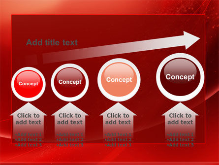 Red Shimmer PowerPoint Template Slide 13