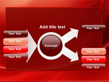 Red Shimmer PowerPoint Template Slide 14