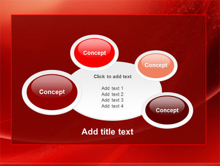 Red Shimmer PowerPoint Template Slide 16