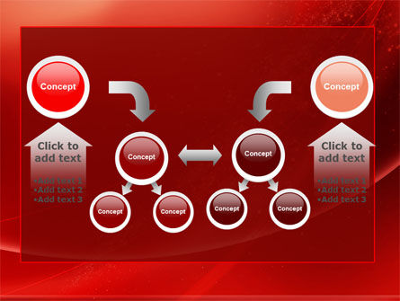 Red Shimmer PowerPoint Template Slide 19