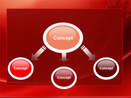 Red Shimmer PowerPoint Template, Slide 4, 06762, Abstract/Textures — PoweredTemplate.com