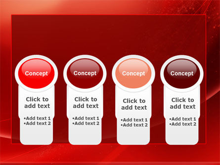 Red Shimmer PowerPoint Template Slide 5