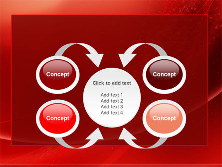 Red Shimmer PowerPoint Template Slide 6