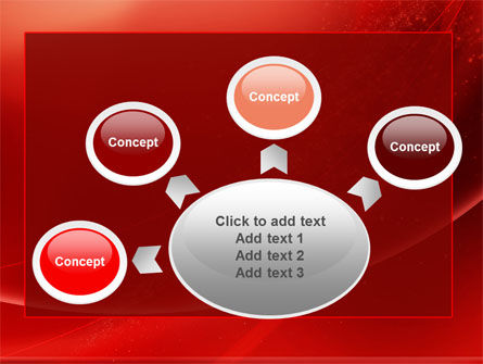 Red Shimmer PowerPoint Template Slide 7