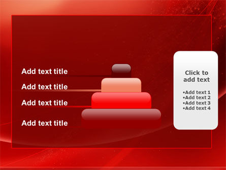 Red Shimmer PowerPoint Template Slide 8