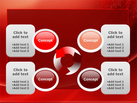 Red Shimmer PowerPoint Template Slide 9