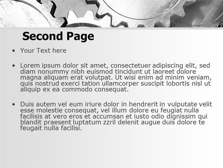 Gray Gear Mechanism PowerPoint Template, Slide 2, 06764, Utilities/Industrial — PoweredTemplate.com