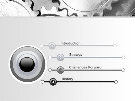 Gray Gear Mechanism PowerPoint Template, Slide 3, 06764, Utilities/Industrial — PoweredTemplate.com