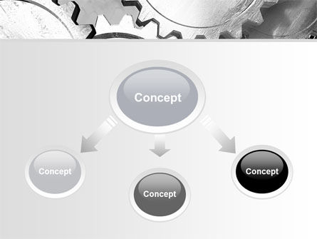 Gray Gear Mechanism PowerPoint Template, Slide 4, 06764, Utilities/Industrial — PoweredTemplate.com
