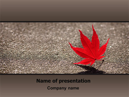 Nature & Environment: Templat PowerPoint Daun Merah #06765