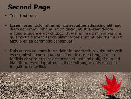 Red Leaf PowerPoint Template, Slide 2, 06765, Nature & Environment — PoweredTemplate.com