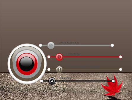 Red Leaf PowerPoint Template, Slide 3, 06765, Nature & Environment — PoweredTemplate.com