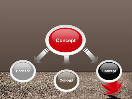 Red Leaf PowerPoint Template, Slide 4, 06765, Nature & Environment — PoweredTemplate.com