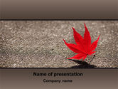 Nature & Environment: Red Leaf PowerPoint Template #06765