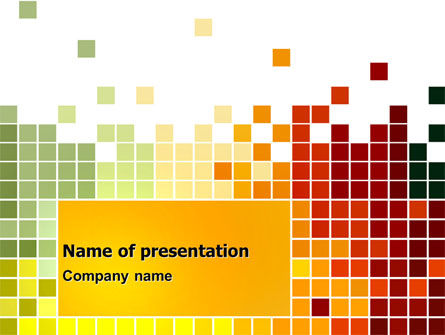 Abstract/Textures: Pixel Mosaic PowerPoint Template #06766