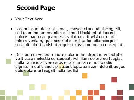 Pixel Mosaic PowerPoint Template, Slide 2, 06766, Abstract/Textures — PoweredTemplate.com