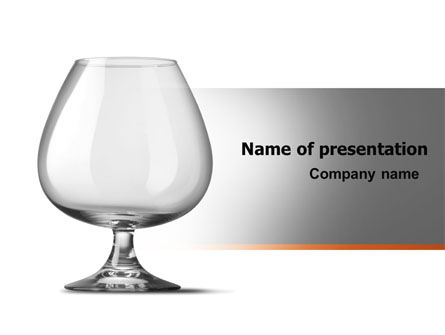 Cognac Glass PowerPoint Template, 06768, Careers/Industry — PoweredTemplate.com