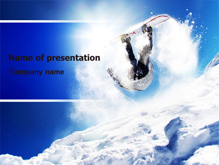Snowboarding Tricks PowerPoint Template, 06770, Sports — PoweredTemplate.com